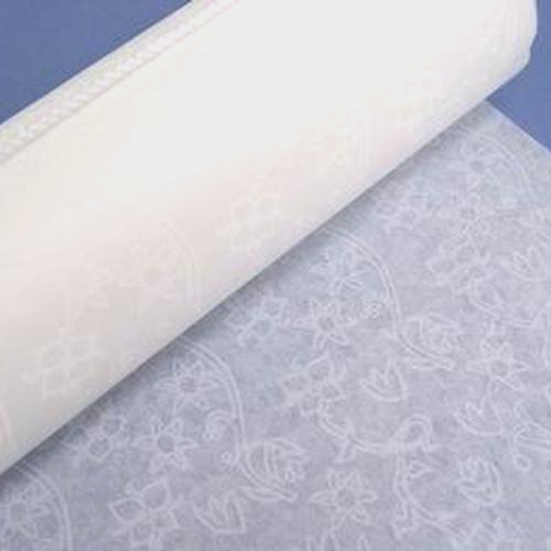 Aisle Runner 125'  Lace Sure Stay White