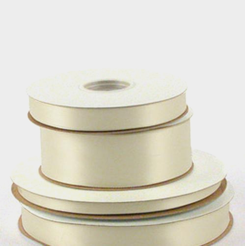 2 5/8 inch Double Faced Satin- #40 Ivory 25 Yards
