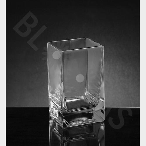 Small Square Glass Vase (6