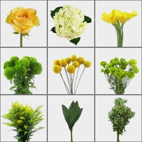 Cheery & Bright Yellow DIY Wedding Flower Pack