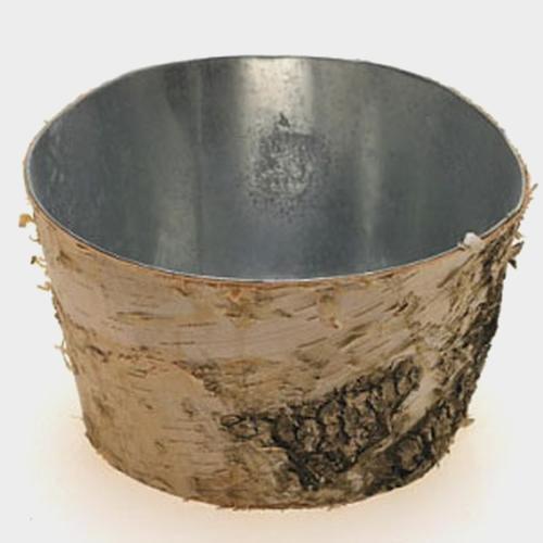 Birch Planter W/ Zinc Liner 6.5