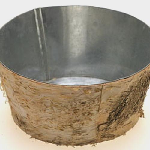 Birch Vase W/ Zinc Liner 8