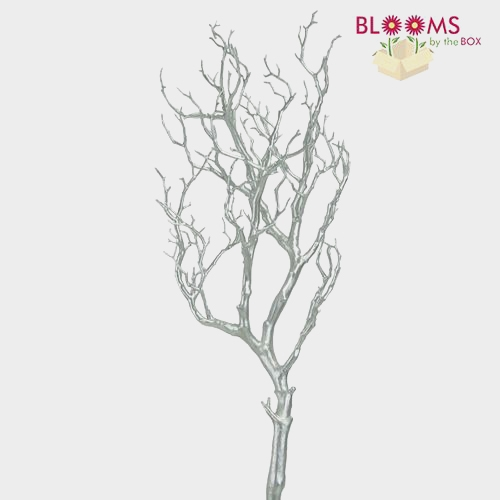 36 Inch Silver Metallic Manzanita Branch