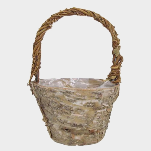 Small Rustic Birch Basket