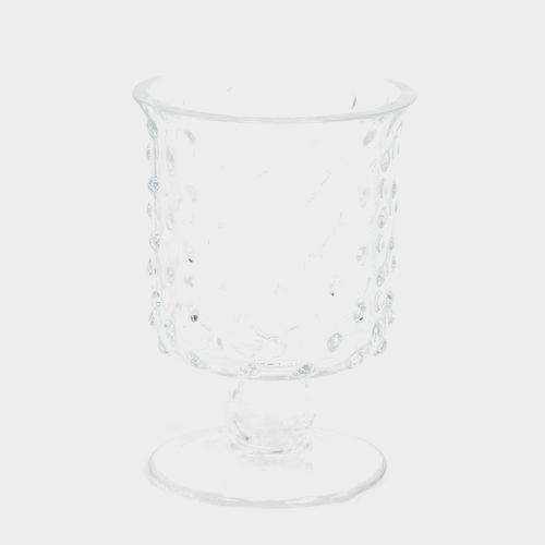 6 Inch H X 4 Inch X 4 Inch Footed Glass Cylinder