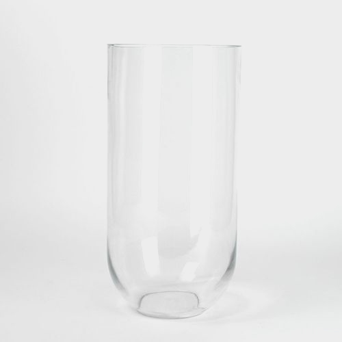 16 Inch H X 8 Inch Clear Glass Round Bottom