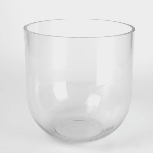 8 Inch H X 8 Inch  Clear Rounded Bottom Glass