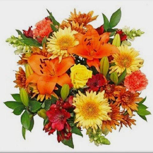 Mixed Bouquet 18 Stem - Candy Corn