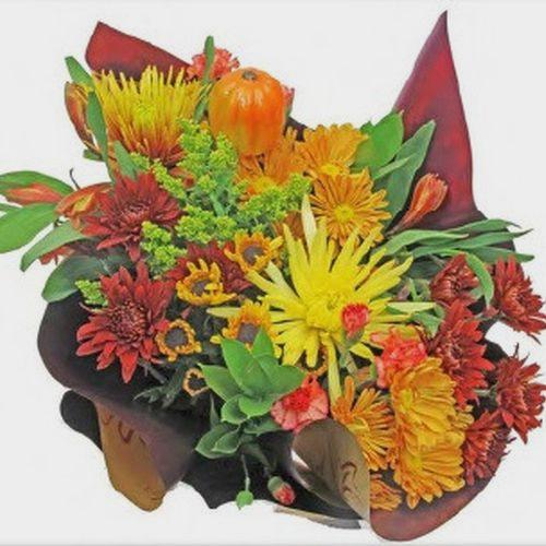 Mixed Bouquet 15 Stem - Pumpkin Spice