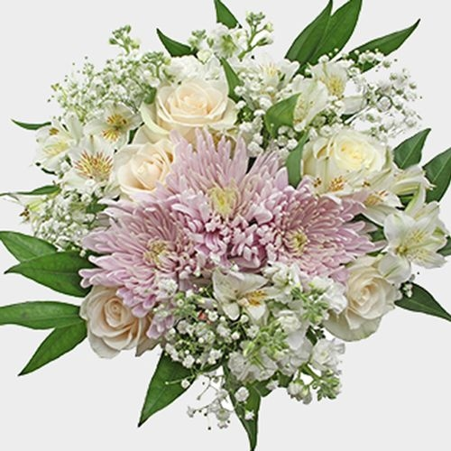 Wedding Bouquet 18 Stem - Misty Lilac Cream