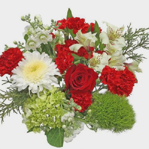 Mixed Bouquet 12 Stem - Winter Wonderland