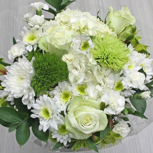 Mixed Bouquet 21 Stem - Green Mist